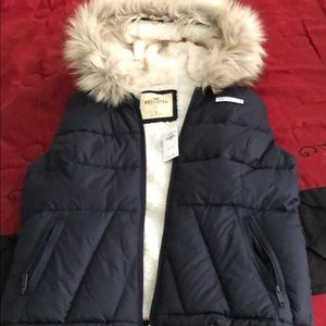 Brand New Hollister Vest With Hood